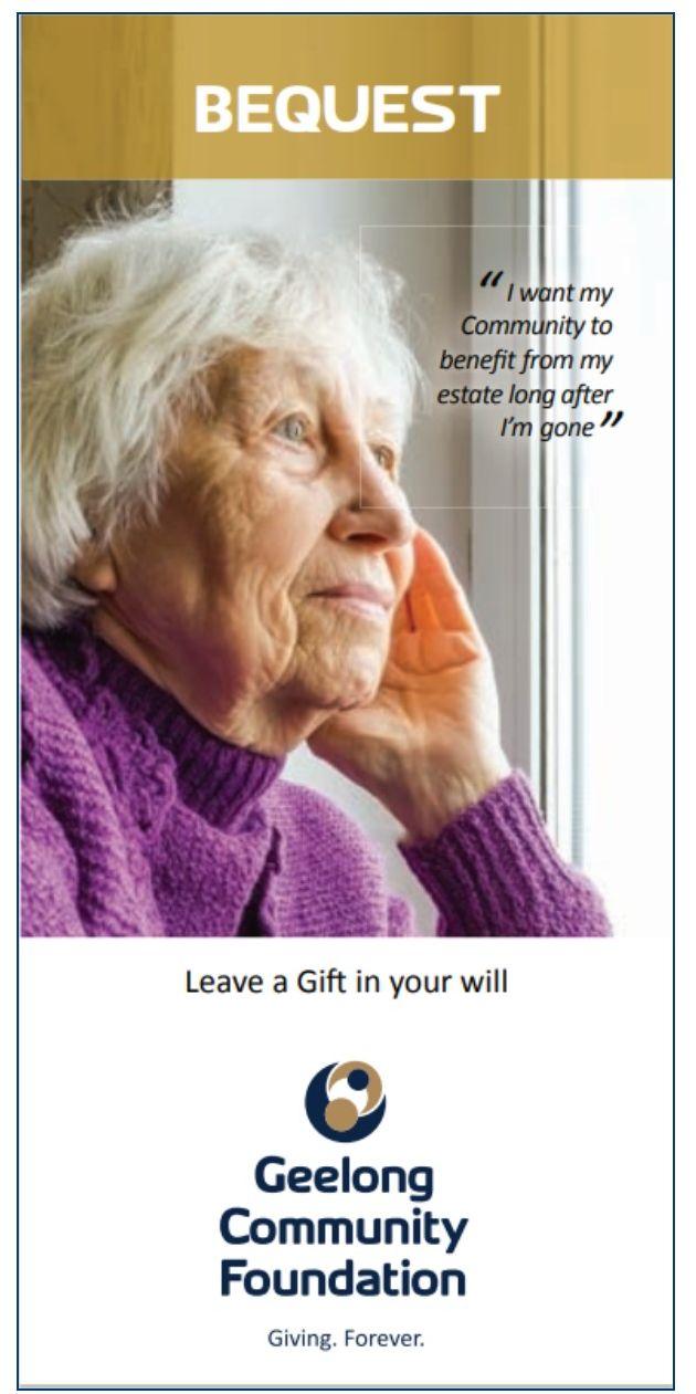 Bequest Brochure Front